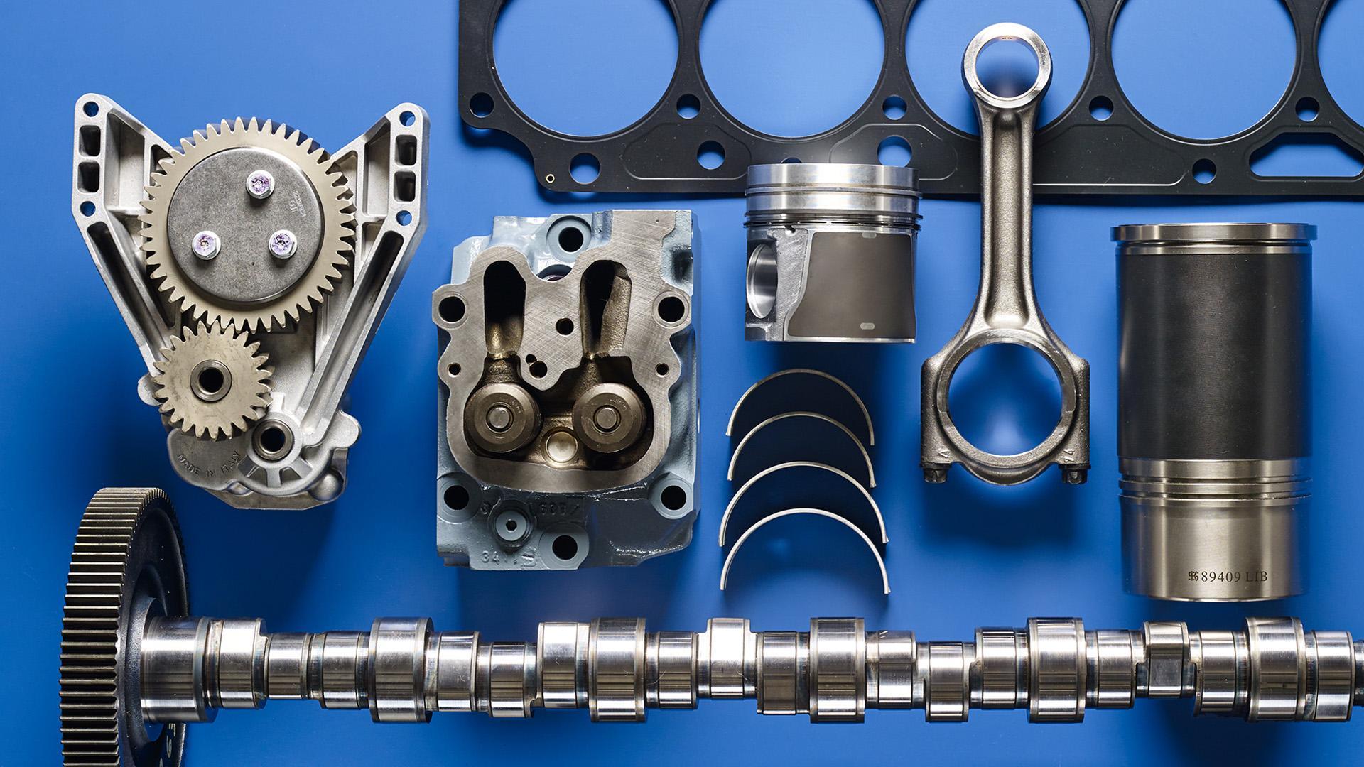 moottoriosat, dieselosat, sylinterikansi, kampiakseli, sylinteriryhmä, kiertokanki